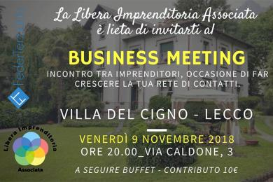 Business Meeting - 09 novembre 2018